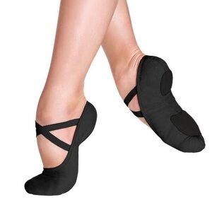 Ballettschuhe elastisch schwarz 2,5 / 32,5 - 33